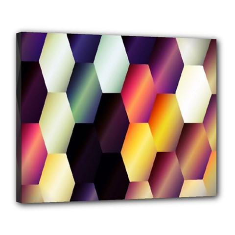 Colorful Hexagon Pattern Canvas 20  x 16