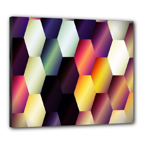 Colorful Hexagon Pattern Canvas 24  x 20