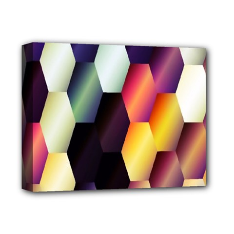Colorful Hexagon Pattern Deluxe Canvas 14  x 11