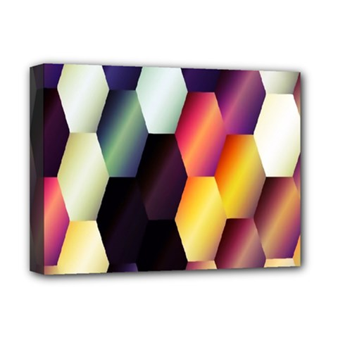 Colorful Hexagon Pattern Deluxe Canvas 16  X 12