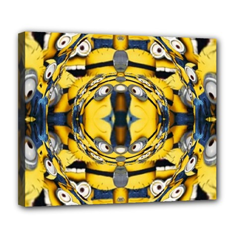 Minions FEEDBACK 3D EFFECT   Deluxe Canvas 24  x 20