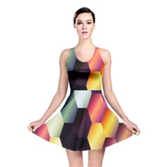 Colorful Hexagon Pattern Reversible Skater Dress