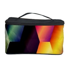 Colorful Hexagon Pattern Cosmetic Storage Case