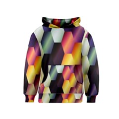 Colorful Hexagon Pattern Kids  Pullover Hoodie