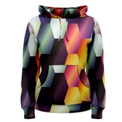 Colorful Hexagon Pattern Women s Pullover Hoodie