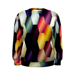 Colorful Hexagon Pattern Women s Sweatshirt