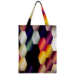 Colorful Hexagon Pattern Zipper Classic Tote Bag
