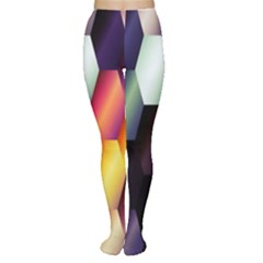 Colorful Hexagon Pattern Women s Tights