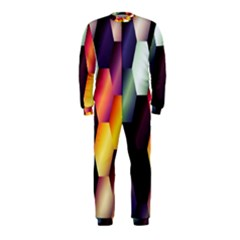 Colorful Hexagon Pattern OnePiece Jumpsuit (Kids)
