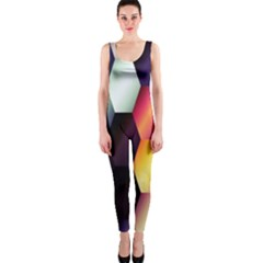 Colorful Hexagon Pattern OnePiece Catsuit