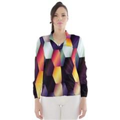 Colorful Hexagon Pattern Wind Breaker (women)