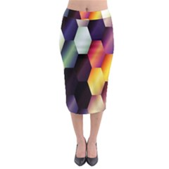 Colorful Hexagon Pattern Midi Pencil Skirt