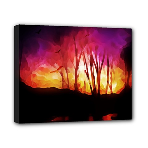 Fall Forest Background Canvas 10  x 8