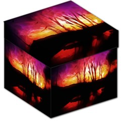 Fall Forest Background Storage Stool 12