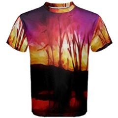 Fall Forest Background Men s Cotton Tee