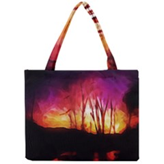 Fall Forest Background Mini Tote Bag