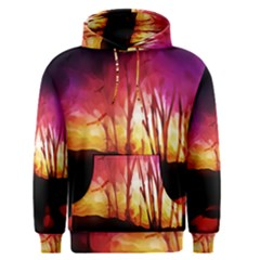 Fall Forest Background Men s Pullover Hoodie