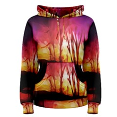 Fall Forest Background Women s Pullover Hoodie