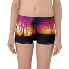 Fall Forest Background Reversible Bikini Bottoms