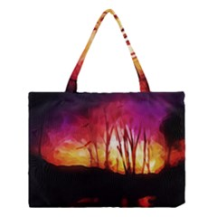 Fall Forest Background Medium Tote Bag