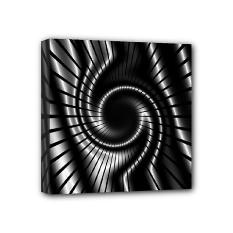 Abstract Background Resembling To Metal Grid Mini Canvas 4  X 4