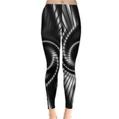 Abstract Background Resembling To Metal Grid Leggings