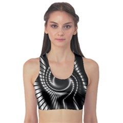 Abstract Background Resembling To Metal Grid Sports Bra