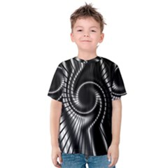 Abstract Background Resembling To Metal Grid Kids  Cotton Tee