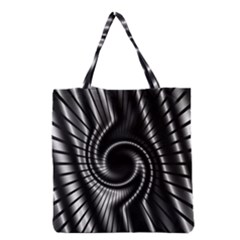 Abstract Background Resembling To Metal Grid Grocery Tote Bag