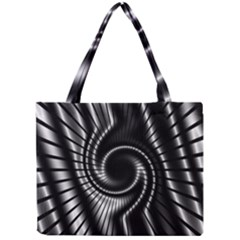 Abstract Background Resembling To Metal Grid Mini Tote Bag