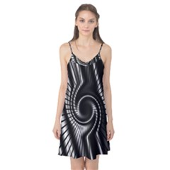 Abstract Background Resembling To Metal Grid Camis Nightgown
