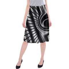 Abstract Background Resembling To Metal Grid Midi Beach Skirt