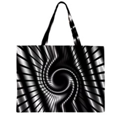 Abstract Background Resembling To Metal Grid Large Tote Bag