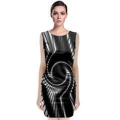 Abstract Background Resembling To Metal Grid Classic Sleeveless Midi Dress