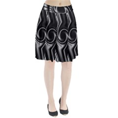 Abstract Background Resembling To Metal Grid Pleated Skirt