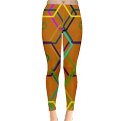 Color Bee Hive Color Bee Hive Pattern Leggings