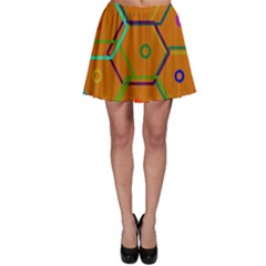 Color Bee Hive Color Bee Hive Pattern Skater Skirt