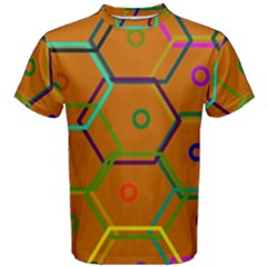 Color Bee Hive Color Bee Hive Pattern Men s Cotton Tee