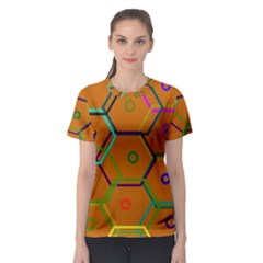 Color Bee Hive Color Bee Hive Pattern Women s Sport Mesh Tee