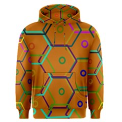 Color Bee Hive Color Bee Hive Pattern Men s Pullover Hoodie