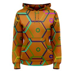 Color Bee Hive Color Bee Hive Pattern Women s Pullover Hoodie