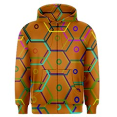 Color Bee Hive Color Bee Hive Pattern Men s Zipper Hoodie