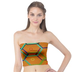 Color Bee Hive Color Bee Hive Pattern Tube Top