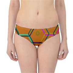 Color Bee Hive Color Bee Hive Pattern Hipster Bikini Bottoms