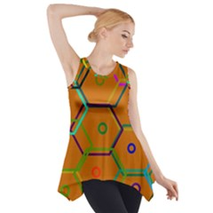 Color Bee Hive Color Bee Hive Pattern Side Drop Tank Tunic