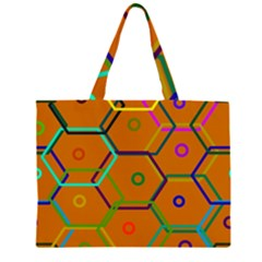 Color Bee Hive Color Bee Hive Pattern Large Tote Bag