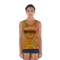 Color Bee Hive Color Bee Hive Pattern Women s Sport Tank Top