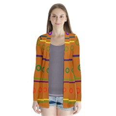 Color Bee Hive Color Bee Hive Pattern Cardigans