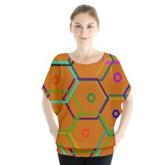 Color Bee Hive Color Bee Hive Pattern Blouse