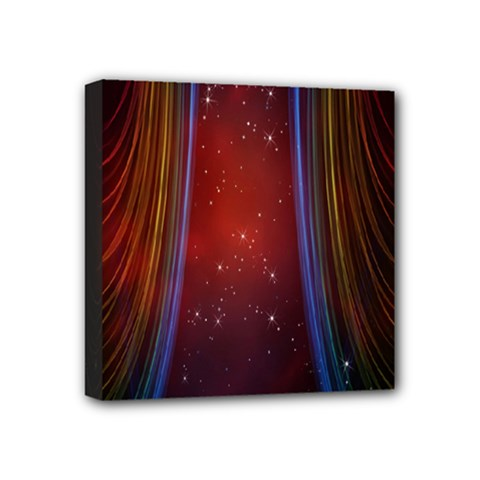Bright Background With Stars And Air Curtains Mini Canvas 4  x 4
